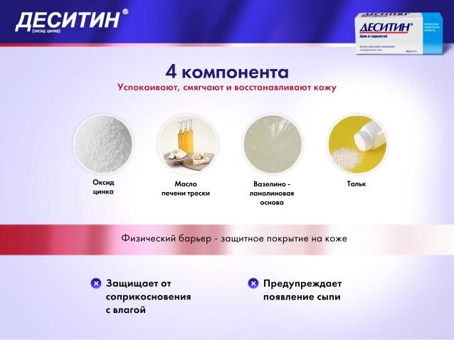 Компоненты Деситина