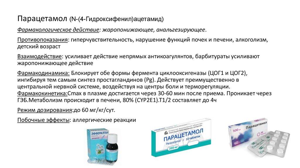 Общая информация о Парацетамоле