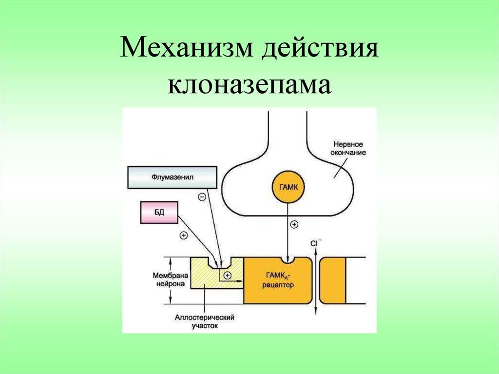 Механизм действия клоназепама