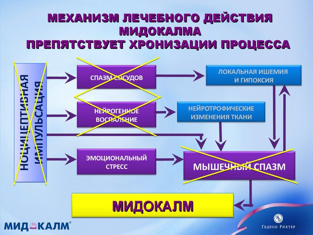 Действие Мидокалма