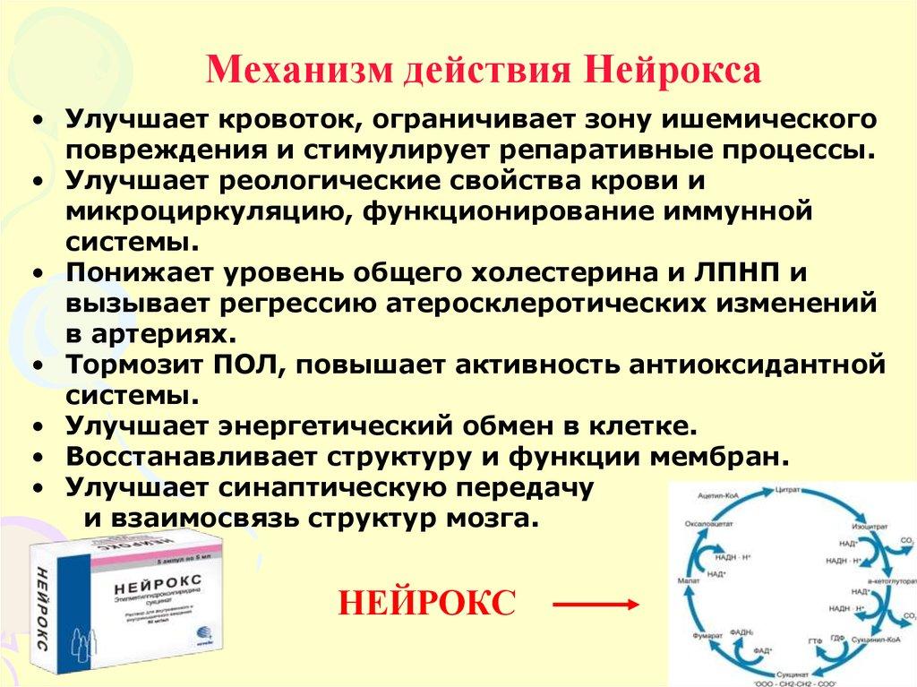 Воздействие Нейрокса на организм