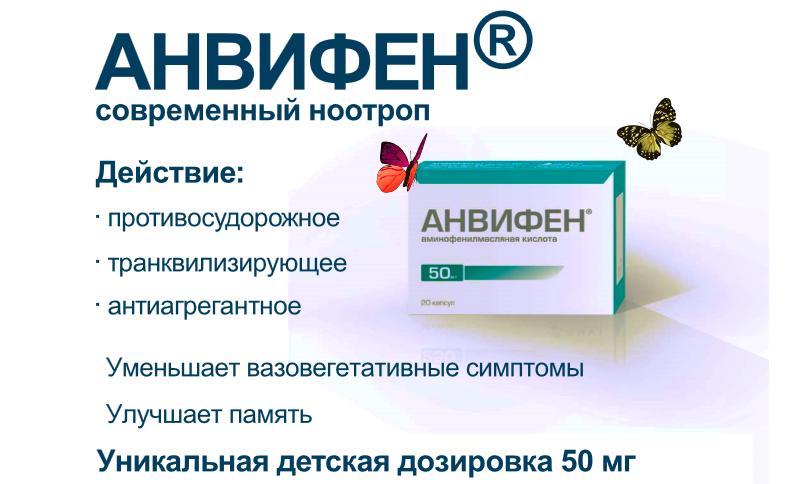 Фармакологические свойства Анвифена